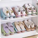 創意衣柜分層鞋子收納架節省空間上下雙層立體式整理收納素色鞋架