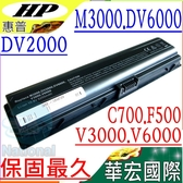 HP電池(保固最久)-惠普 dv2000~dv2900,A900ET,A901TU,A902TU,A903TU,V3019,V3030,V3407,V3800,V3807