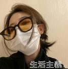 太陽眼鏡 墨镜女夏海边新款潮男小脸网红橙黄色太阳镜女眼镜 生活主義