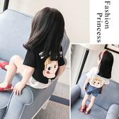 2020夏季新款寶寶夏裝女童印花T恤衫兒童短袖t恤上衣1234歲嬰幼兒 快速出貨