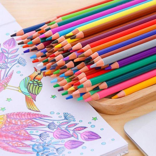 彩色鉛筆72色手繪小學生美術用品專業彩鉛筆油性36色478色彩鉛【全館免運】