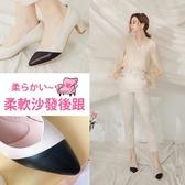 Ann'S雋永品味-纖瘦V口經典小羊皮全真皮粗跟尖頭包鞋6cm-黑白
