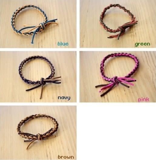 [協貿國際] 韓版色彩彈力繩手工編織髮飾髮圈 (10個價)