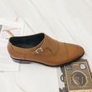 現貨 手工皮鞋 新郎婚鞋 紳士皮鞋 都會歐巴 皮鞋品牌推薦 紳士混搭風 孟克鞋 EPRIS艾佩絲-簡約咖