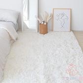 北歐地毯長毛絨床邊素色臥室滿鋪地墊【少女顏究院】