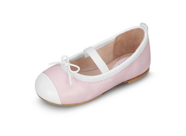 童鞋 / 娃娃鞋 澳洲Bloch芭蕾舞鞋 │白邊蝴蝶結芭蕾舞鞋-粉 # BT1240_BBP