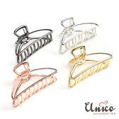 UNICO 簡約時尚質感金屬大號盤髮夾/髮飾
