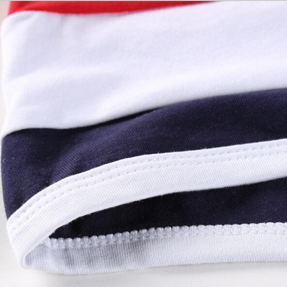 ?四角褲?新款 男式萊卡全棉內褲 拼條紋撞色中腰 KIC_C-012