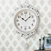 北極星歐式田園擺鐘客廳靜音掛鐘美式裝飾時鐘電子鐘表創意石英鐘 生活樂事館