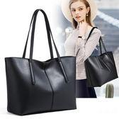 手提包 大包包女新款時尚簡約百搭大容量托特包手提單肩女士真皮女包
