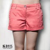 【BTIS】彈性休閒短褲 / 玫紅色