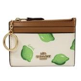 【COACH】悠遊卡片鑰匙零錢包(檸檬/米白)