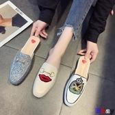 穆勒鞋 半拖鞋 外穿 涼拖 包頭 平底 懶人 穆勒鞋