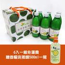 【台灣尚讚愛購購】陽光農業-台灣香檬原汁300ml  六入組 (免運) 送香檬洗碗精1瓶
