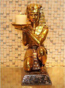 樹脂燭台 裝飾品擺設 埃及國王