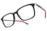HUGO BOSS 光學眼鏡 0950F OIT (黑-紅) 男士精品低調簡約款 # 金橘眼鏡