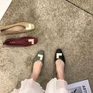 低跟鞋 小復古又洋氣 2020春季新款方頭粗跟單鞋女軟底舒適百搭奶