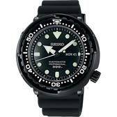 SEIKO 精工 PROSPEX 50周年特別款300米潛水錶-黑/48mm 7C46-0AG0D(SBBN035J)