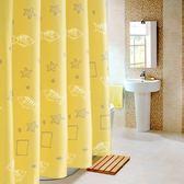 加厚防霉防水浴簾衛生間洗澡間隔斷遮光窗簾浴室隔簾滌綸布門簾子   易家樂