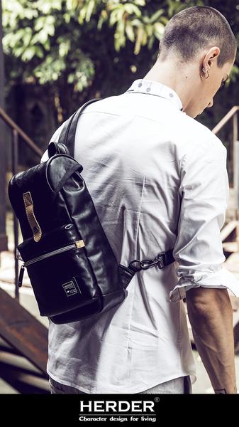 HERDER/赫登 精緻大胸包/後背包二用 男斜挎包 韓版 單肩包 挎包 側背包 腰包 潮包/澤米