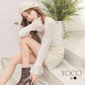 東京著衣【YOCO】微糖美人多色珍珠網紗針織上衣-S.M.L(172456)