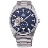 【台南 時代鐘錶 ORIENT】東方錶 RA-AR0003L 堅毅品味藍寶石鏤空機械錶 藍/銀 40mm