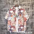 日系夏季港風半短袖花襯衫男夏威夷寬鬆ins潮流沙灘海邊度假襯衣 小艾新品