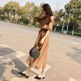 大碼女裝春裝2020新款流行胖mm顯瘦黑色洋裝子女夏洋氣時尚氣質 草莓妞妞