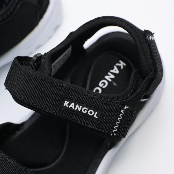KANGOL 黑白 袋鼠 涼鞋 情侶鞋  男女 (布魯克林) 6755230120