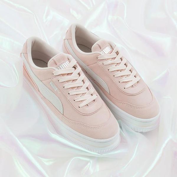 M-PUMA Deva Reptile 運動鞋 厚底 休閒鞋 蔡依林著用 新品 增高 粉白 粉色 米色 銀標 白女 37242304