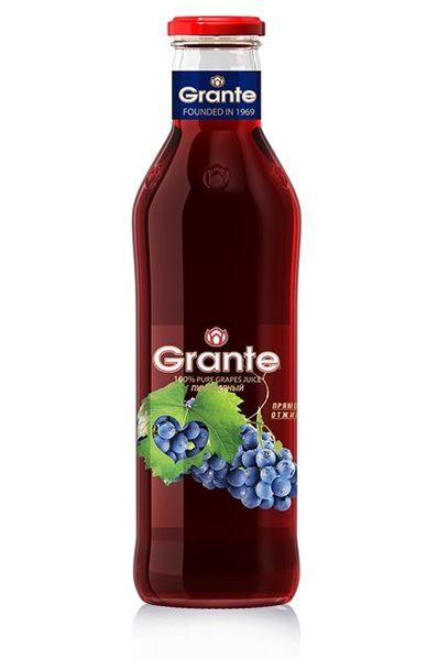 格朗特100%天然直榨紅葡萄汁750ML/1入 (紅葡萄黑皮諾)~純正的原汁,非濃縮天然果汁~(3瓶一組免運)