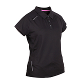 FIRESTAR 女彈性短袖POLO衫(短袖上衣 慢跑 路跑≡體院≡