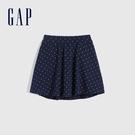 Gap女童 甜美印花棉質舒適短裙 679939-海軍藍