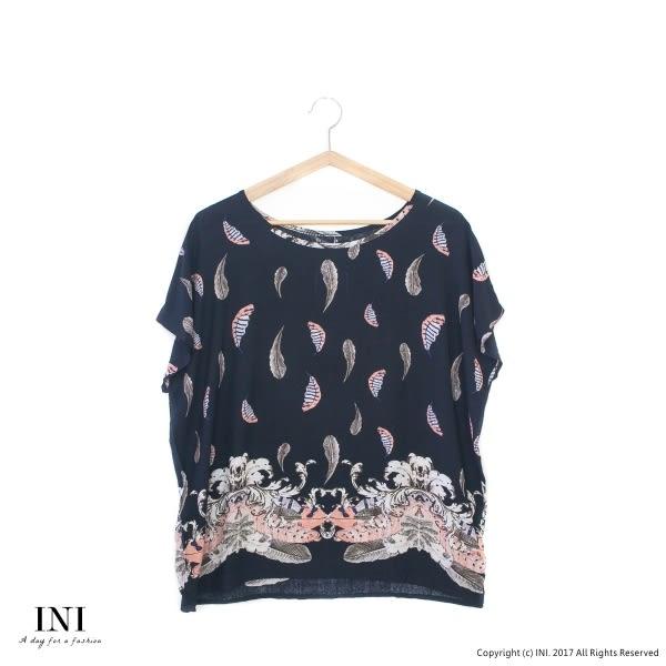 【INI】親膚休閒、涼感輕薄舒適上衣.黑色