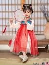熱賣兒童漢服 漢服唐裝女童古裝中國風連身裙2021春秋兒童襦裙夏裝超仙童裝裙子 coco