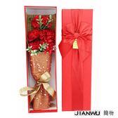 5朵康乃馨香皂花束禮盒送媽媽創意母親節禮品生日禮物