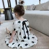 兒童洋裝小布丁童裝女童夏裝洋氣新款兒童波點公主洋裝寶寶韓版裙子 凱斯盾