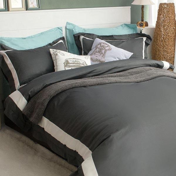 絲光精梳棉 單人4件組(床包+被套+枕套) 皇家森林-爵士之夜 BUNNY LIFE