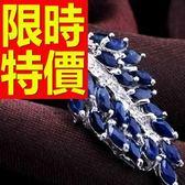 藍寶石 項鍊 墜子S925純銀-0.4克拉生日情人節禮物女飾品53sa14【巴黎精品】