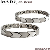 【MARE-316L白鋼】男女對鍊 系列: 邱比特雙色箭 款