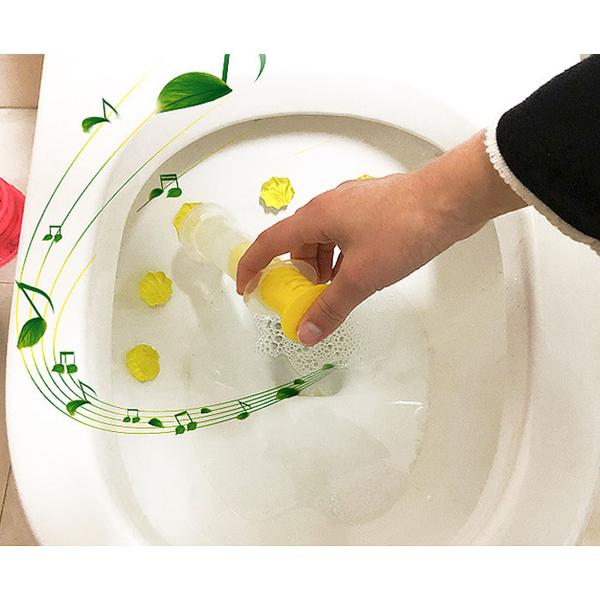 Qmishop 開花花瓣馬桶浴室廚房除臭潔廁劑【J2156】