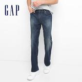 Gap男裝 基本款純棉水洗男士牛仔褲 中低腰直筒長褲男 509958-復古
