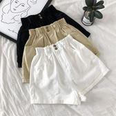 2018夏季韓版女裝花苞高腰洗水牛仔短褲百搭學生純色闊腿褲熱褲潮 森活雜貨