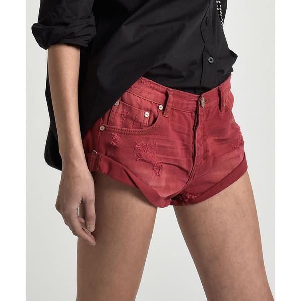 OneTeaspoon 牛仔短褲- BANDITS RED ENVY BANDIT-女(紅)