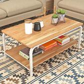 詩情畫意 簡約現代茶幾客廳茶幾邊幾簡易組裝長方形小茶桌角幾WY 全館免運折上折