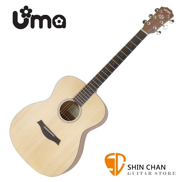 Uma OM-12 NS 民謠木吉他 桶身:OM桶 41吋 附原廠吉他袋 【OM12 NS】