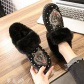 雪地靴 雪地靴女皮毛一體 秋冬新款短筒短靴加厚保暖平底鞋子女鞋棉鞋 夢藝家