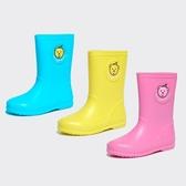 兒童雨鞋男童女童雨鞋學生四季防滑小孩小童雨靴中筒可愛寶寶水鞋【元氣少女】