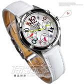SHEEN SHE-3031L-7A 三眼錶 照明功能 白面 皮帶錶 日期星期顯示 39mm 女錶 SHE-3031L-7AUDR CASIO卡西歐