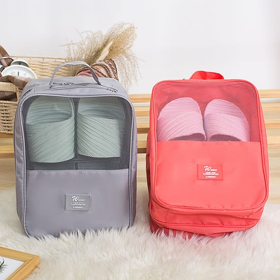 乾溼分離旅行雙層鞋袋 收納 分裝 海關 出國 整理袋 多功能 分隔 便攜 【Z112】♚MY COLOR♚